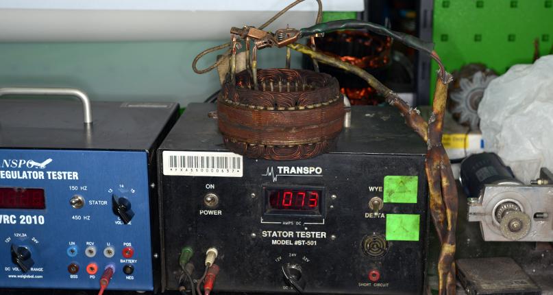 Диагностика генератора на стенде